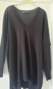 Zara semi sheer vneck sweater